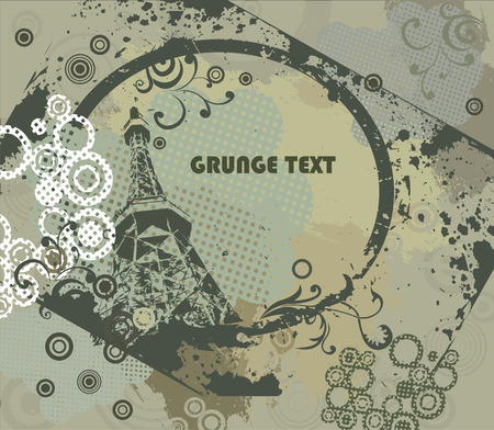 grimy: Grunge frame with urban elements Illustration