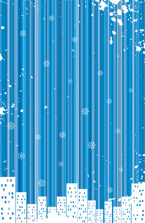 Grunge retro winter background Stock Vector - 5248194
