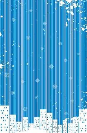 Grunge retro winter background Stock Vector - 5248194