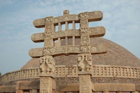 sanchi stupa: Stupa Gates in Sanchi,India