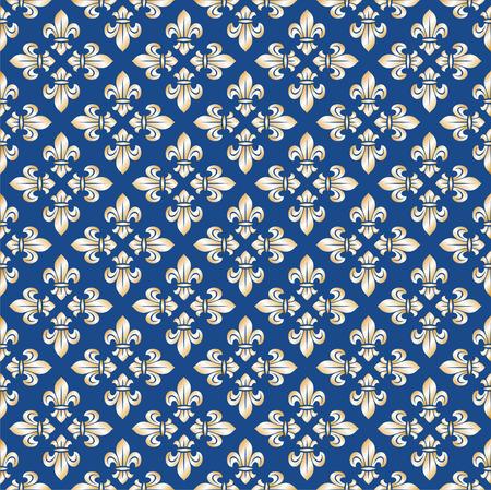 Seamless royal texture with fleur-de-lis Vector
