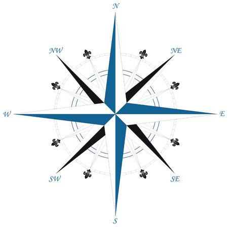 wind wheel: Bussola rosa dei venti  Vettoriali