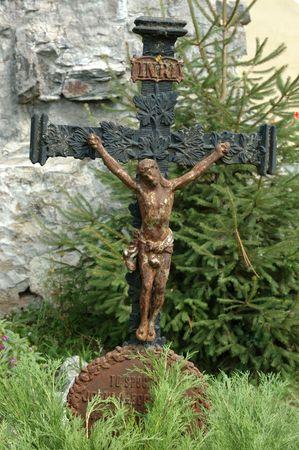churchyard: Old cross on churchyard