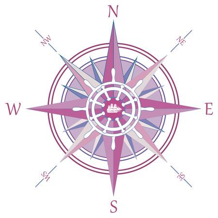 wind wheel: Wind Rose Vintage compass