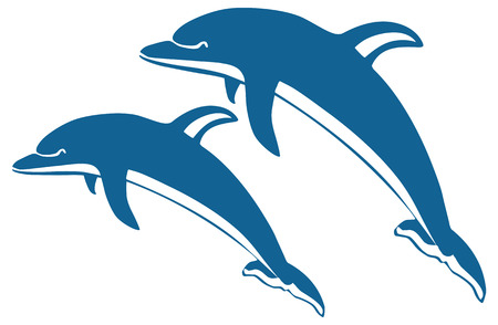 Two dolphins Stock Vector - 5431588