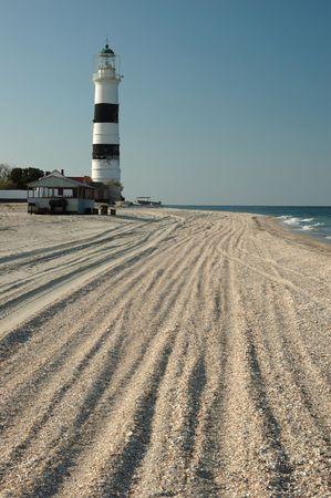 Old lighthouse on Tendra island,Ukraine photo