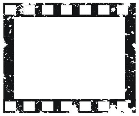 Grunge empty vector film frame Vector