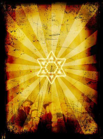 rabbi: Jewish Yom Kippur grunge background