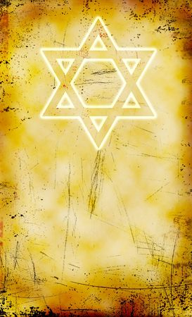 yom: Jewish Yom Kippur grunge background with David star