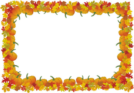 Thanksgiving day autumnal vector frame Vector