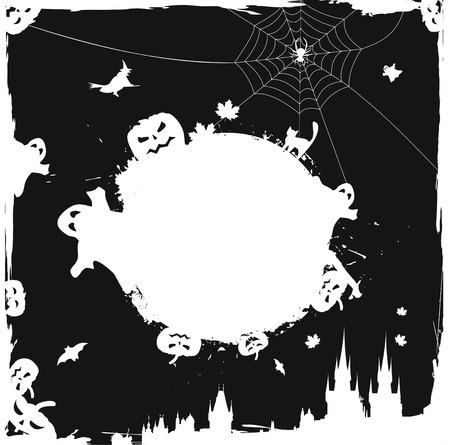 Grunge halloween background Stock Vector - 5752530