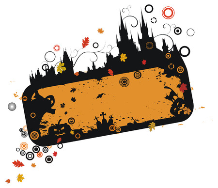 Grunge halloween frame Stock Vector - 5752531
