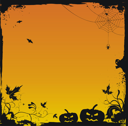 pagan: Halloween grunge vecteur arri�re-plan  Illustration
