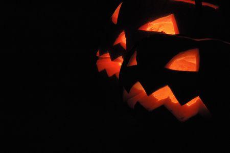 Halloween pumpkins - Jack O Lanterns Stock Photo - 5792877