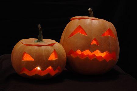Halloween pumpkins - Jack O Lanterns Stock Photo - 5792875