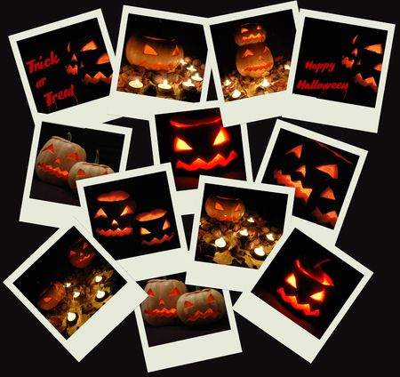 Stack of  Halloween photo shots  photo