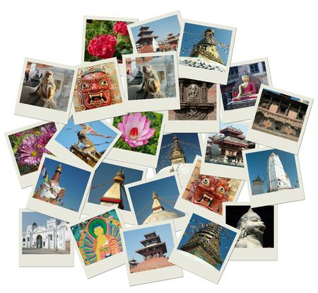 Stack of photo shots with Nepal landmarks Stock Photo - 5828521