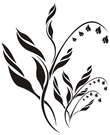lily vector: Lily of the valley floral vector pattern