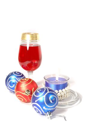 Christmas celebration still life on white background photo