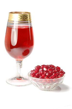 Glass of fresh pomegranate juice  photo