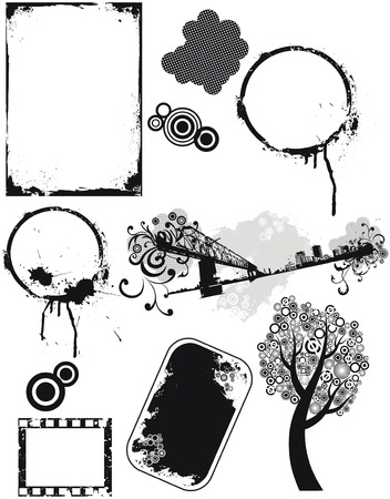 Set of grunge vector elements Stock Vector - 5918582