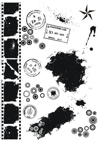 grimy: Grunge vector elements