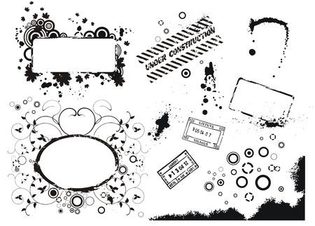 Set of vector grunge elements Stock Vector - 5962710