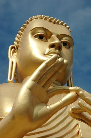Golden Buddha At Dambulla,sri Lanka buddhist cave temple compex ,world heritage photo
