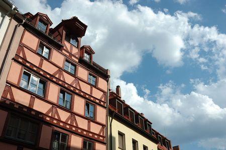 Traditional german half-timberes houses photo