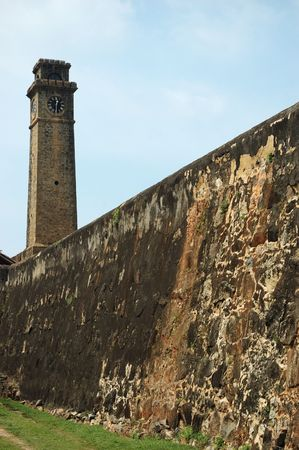 galle: Fortifications of old town of Galle,Ceylon (world heritage site)