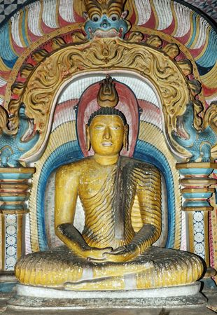 Buddha statue at Dambulla,- buddhist cave temple compex in Sri Lanka,world heritage photo