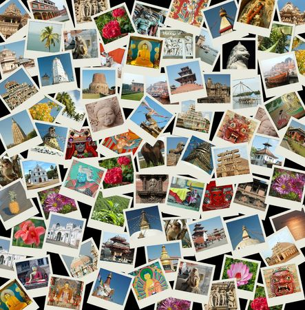 Go Asia - background with travel photos of Asia Stock Photo