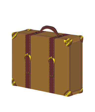 Old vintage suitcase Vector
