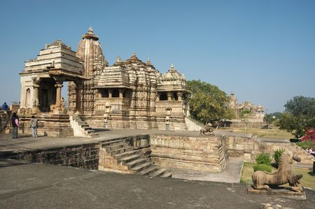 Hindu temples at Khajuraho - famous sacred place of India,world heritage site photo