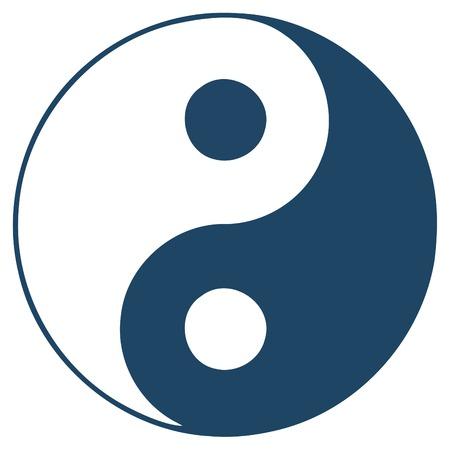 man vrouw symbool: Yin-Yan - symbool  Stock Illustratie