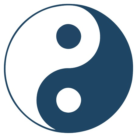Yin Yan  - symbol  Ilustracja