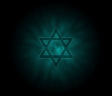 jewish star: Yom Kippur  Jewish Background With David Star Stock Photo