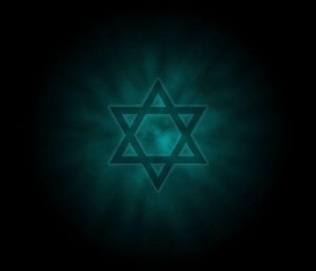 aureola: Yom Kippur  Jewish Background With David Star Stock Photo