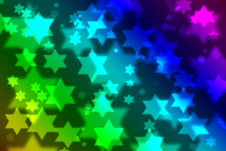 jewish star: Jewish star celebration background bokeh