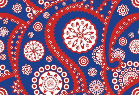 Retro seamless paisley (turkish cucumber) pattern Vector