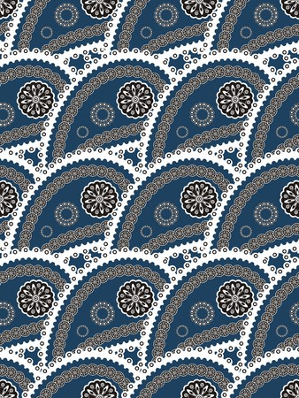 Retro seamless paisley indian pattern photo
