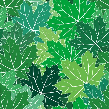 Spring maple green leaves  seamless texture Stock Vector - 7069933