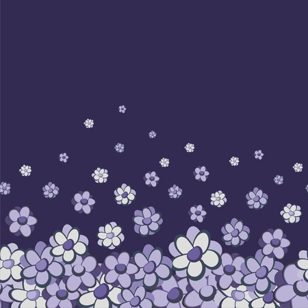 Vintage floral vector seamless border Stock Vector - 7363919
