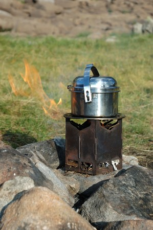 boiling water: Camp kitchen