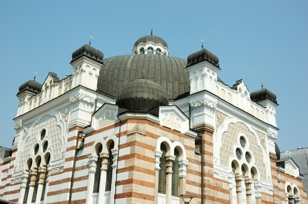 sephardic: The Sofia Synagogue - largest synagogue in Southeastern Europe , Bulgaria, Balkans Architectural style is Moorish revival and it is one of two functioning synagogues in Bulgaria and the third-largest in Europe Stock Photo