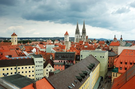 Old Regensburg roofs ,Bavaria,Germany,Unesco heritage Stock Photo - 7876624
