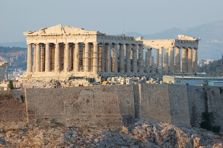 Parthenon temple in Greece,the place where democracy was born photo