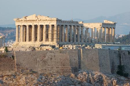 democracia: Templo del Parten�n en Grecia, el lugar donde naci� la democracia  Foto de archivo