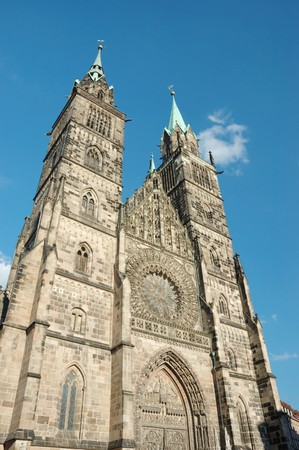 evangelical: Evangelical Lutheran St.Lorenz  Church  in Nuremberg,Bavaria,Germany  dedicated to Saint Lawrence