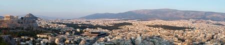 Huge panorama of Athens and Acropolis,famous landmark ,Greece, Balkans photo